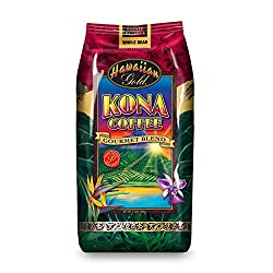 Image of the product Hawallan Gold Kona Blend Coffee, 2 Pound that is listed on the catalogue brand of Hawaiian Gold.