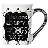 Tumbleweed - My Windows Aren't Dirty. That's My Dog's Nose Art - Dog Mug - Large Ceramic 18 Ounce Coffee Mug