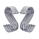 Outus S Shaped Hooks Hanging Hooks Hangers for Bathroom, Bedroom, Office and Kitchen ( 20 Pack )