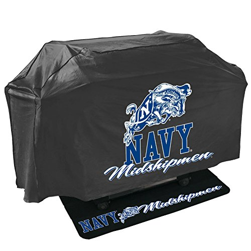 Mr. Bar-B-Q 155137-151708 Navy Midshipmen NCAA Grill Cover and Grill Mat Set