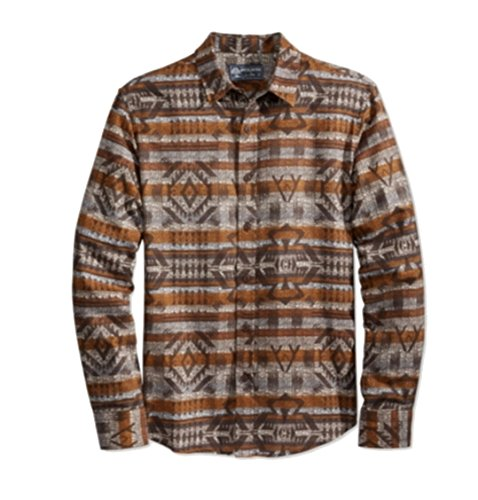 American Rag Mens Fair Isle Blanket Button Down Shirt Beige - Fair Mall Fashion