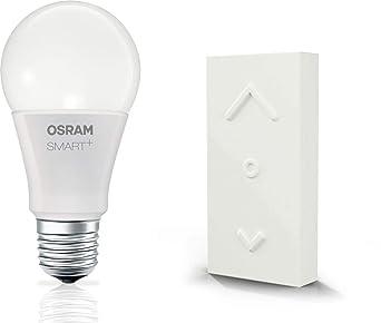 OSRAM Smart+ LED mit Fernbedienung, ZigBee LED Lampe E27 mit Dimmer| warmweiß, ersetzt 60 Watt Glühbirne, Direkt kompatibel m