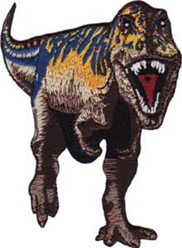 Application Purple and Brown T-Rex Patch ()