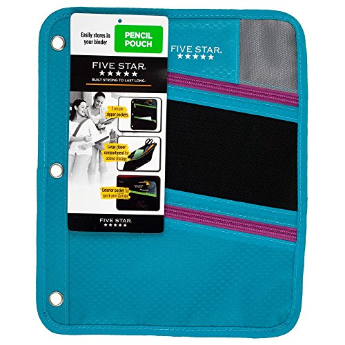 five-star-zipper-pencil-pouch-pencil-case-teal-73116