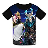 Alxosla Kids Fashion Fortnite Drift Mask Casual Short Sleeve T-Shirt Tops Tees