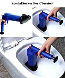 Toilet Plunger, Air Power Drain Blaster Gun Sink