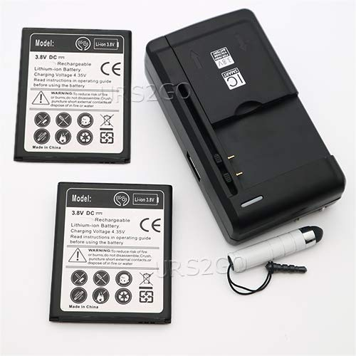 High Capacity 1800mAh Rechargeable Substitutable Battery Multi Function Travel Desktop Wall Rapid Charger Stylus for Samsung Galaxy Ace 4 SM-G313M Cellphone - USA