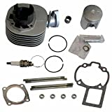 50 Caliber Racing Complete Top End Cylinder Rebuild Kit fits Suzuki Quadsport LT80 Kawasaki KFX 80 Youth ATVs [4449]