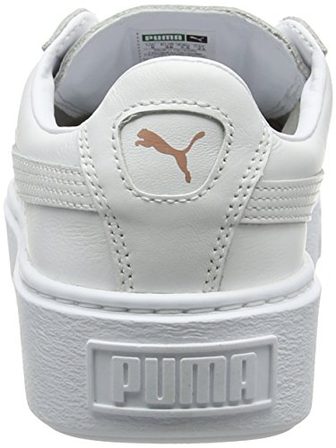 Bianco Da Platform Scarpe rose Ginnastica Metallic white Basse Donna Gold Basket Puma Z8qn51IF