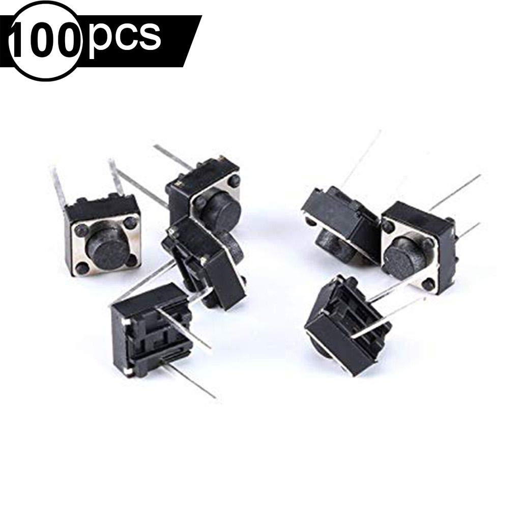 RoboJax 10 pcs Tactile 6x6x5mm 4pin Push Button Micro Switch