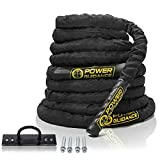POWER GUIDANCE Battle Rope - 1.5' Width Poly Dacron 30/40/50ft Length Exercise Undulation Ropes -...