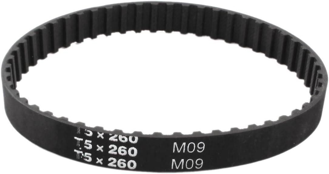 sourcingmap T5/x 260/52/dents 5/mm /à 10/mm Largeur Groove Courroie de Tour de 260/mm