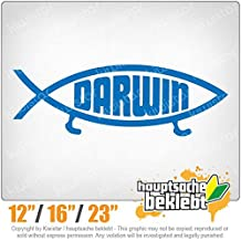 Darwin fish - Available in 3 sizes 15 COLORS - Neon + Chrome! Decal Sticker Bumper Rear Window Vinyl Motorcycle