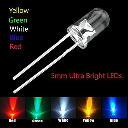 Red//Yellow//Blue//Green//White Ships from Canada 50 pcs 3mm Ultra Bright LEDs