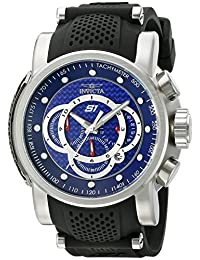 Invicta Men's S1 Rally Black/Blue Stainless Steel Watch