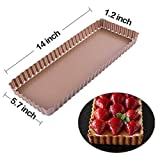 Webake 14 inch Tart Pan, Rectangular Quiche Pan