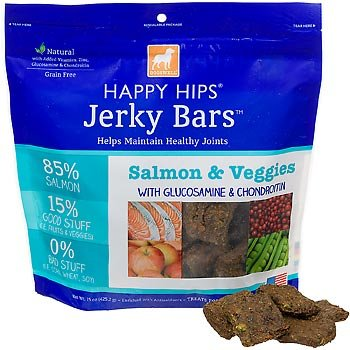 DOGSWELL 842246 Happy Hips Salmon and Veggie Jerky Bar for Pets, 15-Ounce, My Pet Supplies