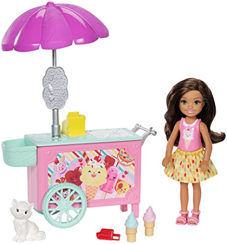 Barbie Club Chelsea Ice Cream Cart Doll & - Tron White Costume