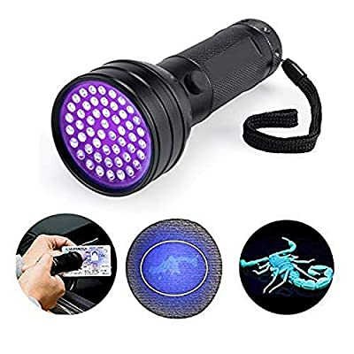 51 LED UV Flashlight Black Light Ultraviolet Pet Urine Detector for Dog Cat Urine Dry Stains Bed Bug Matching with Pet Odor Eliminator