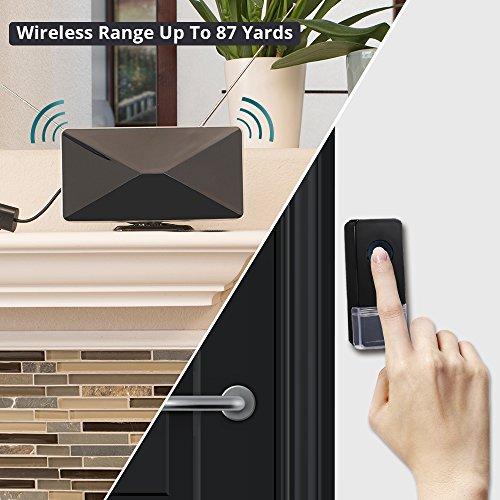 TV Antenna Ring Doorbell, ANTOP Digital HDTV Antenna 50 Miles Range Built-in Alert System 1 Design