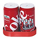 Coca-Cola Salt and Pepper Shakers with Caddy