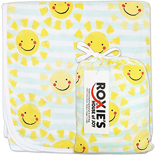 Everything Baby and Toddler Blanket - Cotton Muslin, Girls or Boys, 47