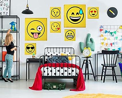Decorazioni Pareti Fai Da Te : Pannelli decorativi murali d per parete quadrati smile ed