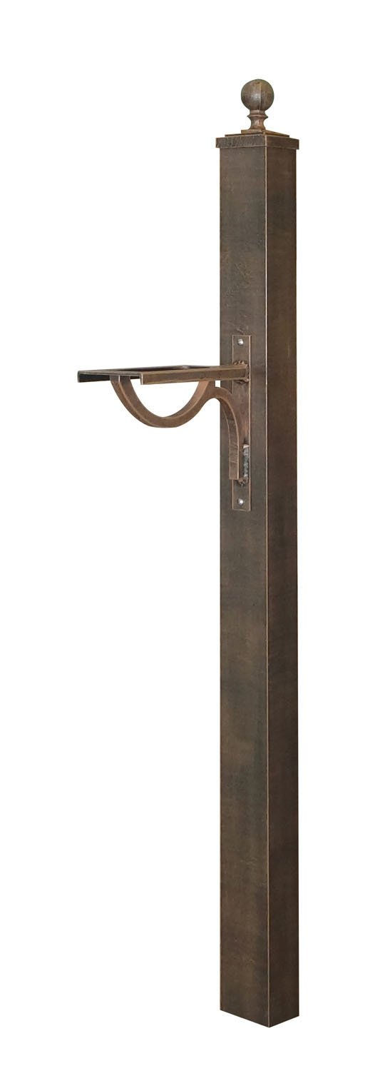 Special Lite SPK-710 Springfield Direct Burial Mailbox Post - Copper