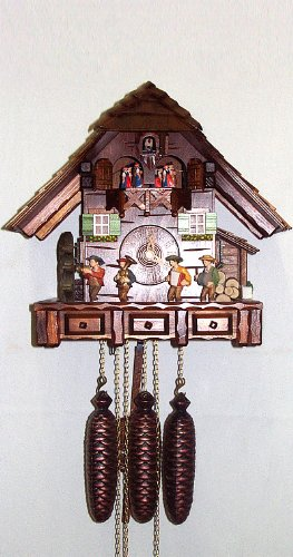 August Schwer Cuckoo Clock Musicians Clock