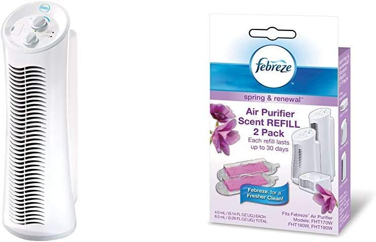 Febreze FHT190W HEPA-Type Tower Air Purifier Scent Refill, Spring and Renewal, 2-Pack