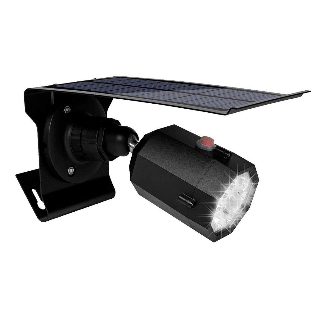 LEDMOMO Luces de seguridad del sensor de movimiento, lámpara de cámaras de vigilancia CCTV de simulación de luz con sensor solar LED (negro): Amazon.es: ...