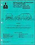 1994 Mitsubishi Expo & Expo LRV A/C Installation Instruction Manual Original