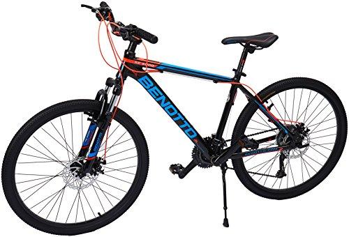 Benotto XC-6000 Bicicleta de Aluminio, Frenos DDM, color Negro/Azul, Med