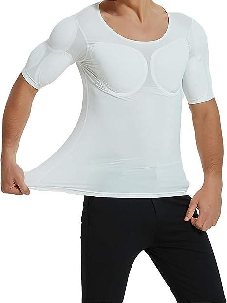 QQA Hombres Simulación Músculo Camiseta Hombrera El Latissimus Dorsi Sin Costura Realista Ropa Interior,XL: Amazon.es: Hogar