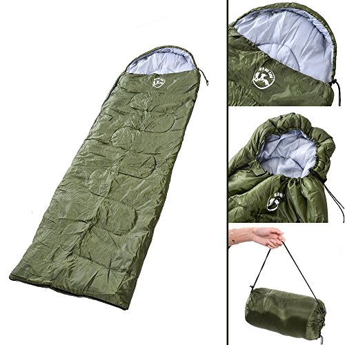 AGPtek-Sleeping-Bag-with-Carrying-Bag-Warm-Weather-Sleeping-Bag-Compactable-Waterproof-Windproof-Envelope-Style-for-Climbing-Camping-Hiking
