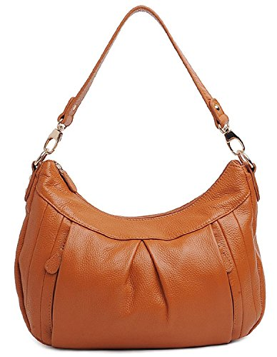 Color Style Shoulder Cross Brown Retro Kuer Tote Leather Top R Soft Hereby Women��s Handbag body Pure Handle 4HqxOY