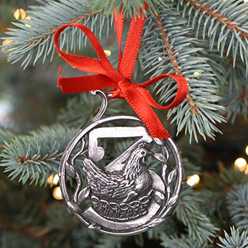 English Pewter Company '12 Days of Christmas' Luxury Pewter Christmas Tree Decoration Pendant Baubles Ornament [CHR013]
