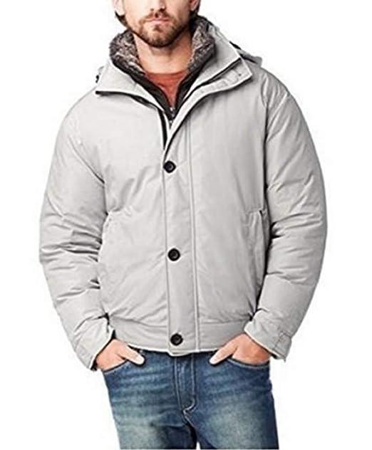Weatherproof - Chaqueta - para Hombre Plateado Large