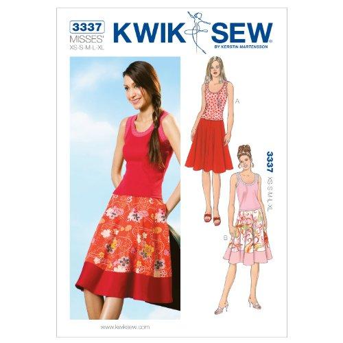 (Kwik Sew K3337 Skirts and Tops Sewing Pattern, Size XS-S-M-L-XL)
