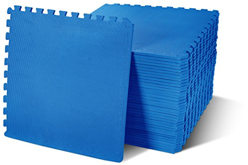 Floor Roll (BalanceFrom Puzzle Exercise Mat with EVA Foam Interlocking Tiles, Blue, 144 sq. ft.(Pack of 36))