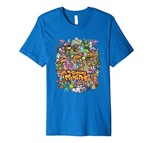 Mens My Singing Monsters: Monster Medley T-Shirt Medium Royal (Male Medley)