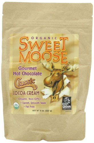 Funfresh Foods, Sweet Moose, Organic, Gourmet Hot Chocolate, Classic Cocoa Cream, 8 Ounce (Pack of 2) by FunFresh Foods