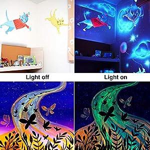 51drB7ZrAgL. SS300  - Onforu-45W-Schwarzlicht-UV-LED-Bar-mit-EU-Stecker-Black-Light-Lichteffekt-Partylicht-Bhnenbeleuchtung-mit-Schalter-Geeignet-fr-Weihnachten-Halloween-Club-Party-Karneval-Disco-Ballsaal