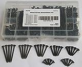 IEUYO 300 PCS Wood Screw Assortment Kit, Drywall Screws,Bugle Head, Phillips Drive, Black Oxide Finish, for Drywall, Wood, 7Size, (#6) M3.5x16/20/25/30/35/40/50