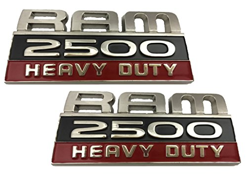 X2 Dodge Ram 2500 Heavy Duty Direct OEM Replacement Emblem Replaces 55372616AA / 55372616AB / 55372616AC / 55372616