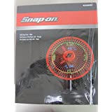 Snap On LED Clock Fan- Red