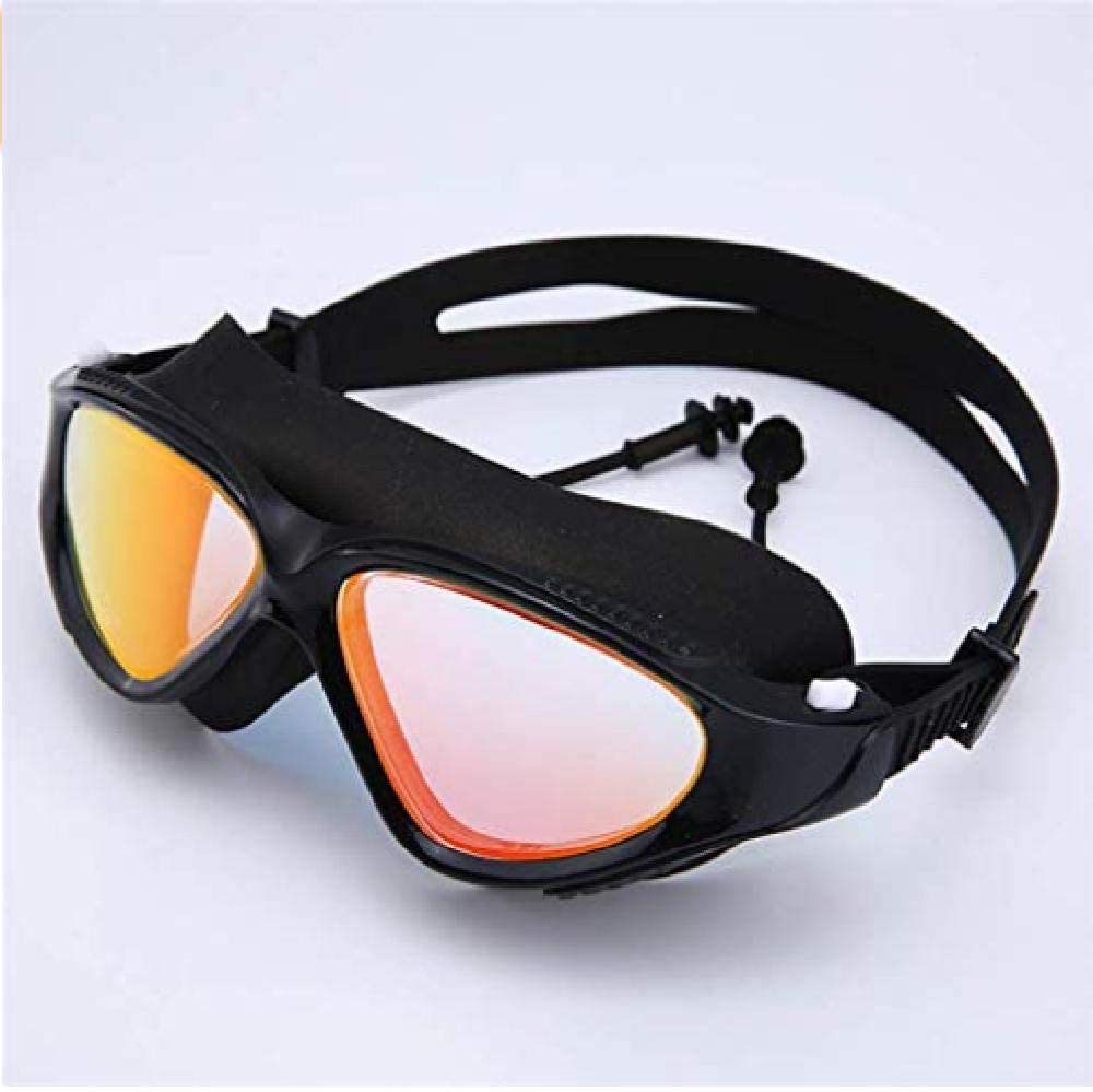 fyhtydsr Gafas de natación Ajustables para Adultos Gafas de natación a Prueba de Agua Anti-Niebla UV