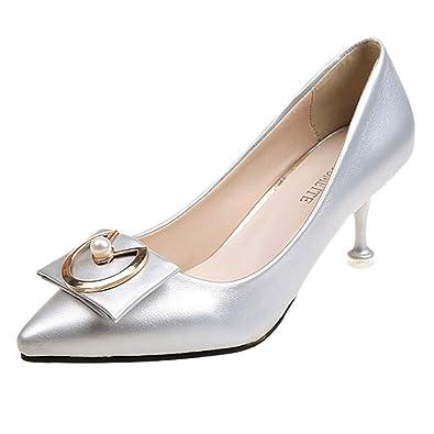 8b3e844f93961e Dorical Chaussures Femme,Talons Hauts Printemps mis la Bouche Peu Profonde  Pointu Bien avec des