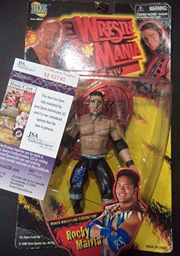 Dwayne Johnson Rock Wrestling Legend Signed Action Figure New In Box Coa - JSA Certified - Autographed Wrestling Miscellaneous Items