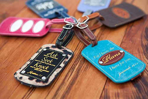 2-Pc Set Luggage Tags. Inspirational Themes. Perfect Christian & Religious Gifts For Women & Men. by Bellerina (Image #3)